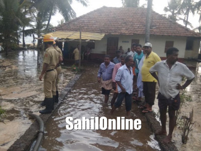 Three families evacuated from seashore after water level rises at Ullal and Uchila