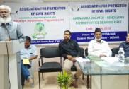 بنگلور میں اے پی سی آر کے زیر اہتمام  عالمی یوم ارض منایا گیا؛ تحفظ ماحولیات پرشیخ شفیع کا پرمغز خطاب