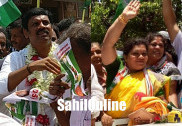 Sharada Shetty from Congress, Pradeep Nayak from JD(S) file nominations for Kumta constituency