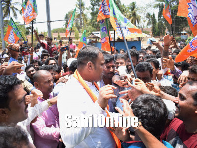 Sunil Naik files nomination as BJP candidate for Bhatkal-Honnavar constituency