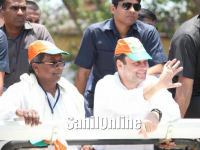Rahul Gandhi arrives on electioneering tour in Karnataka; begins roadshow from Ankola, Uttar-Kannada