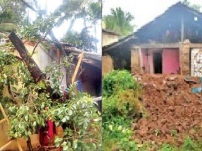 اترکنڑا ضلع میں مسلسل بارش : ضلع کے سرسی ، سداپور اور یلاپور زیادہ متاثر ،کئی گھروں کو نقصان