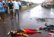 Heart wrenching accident on Manki NH66 kills 3