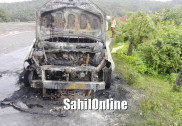 Moving car catches fire on Kumta NH-66; no casualties