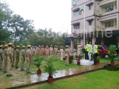 کاروار کے ہوم گارڈس دفتر اورکیگا شہری تحفظ مرکز میں یوم ِآزادی کی خصوصی تقریب