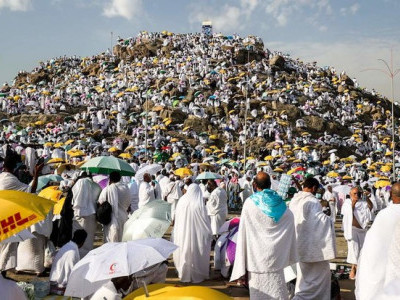 Muslim pilgrims ascend Mount Arafat for climax of Hajj