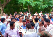 Opposing highway bypass, villagers stage massive protest in Kumta; submit memorandum
