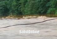 جنوبی کینرا میں زوردار برسات۔ ندیوں میں پانی کی سطح میں اضافہ؛کچھ مقامات میں چٹان کھسکنے کی واردات