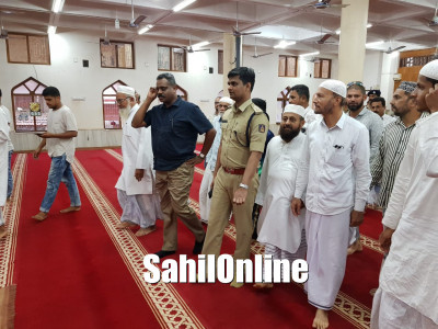 Western range IGP visits historical places of Bhatkal including Jamia Masjid