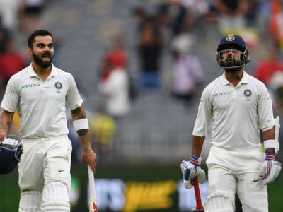 Perth Test: Kohli, Rahane lead fightback, India end day at 172/3
