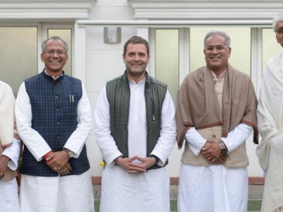 چھتیس گڑھ میں کون بنے گا وزیر اعلی؟ راہل گاندھی نے کیا اشارہ