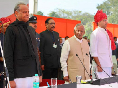 Ashok Gehlot sworn in as Rajasthan chief minister, Sachin Pilot as deputy CM
