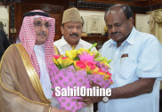سعودی سفیر برائے ہند سعود الساطی کی وزیراعلیٰ سے ملاقات، بنگلورو میں سعودی قونصل خانے کے قیام کے لئے حکومت تعاون کرے گی: کمار سوامی