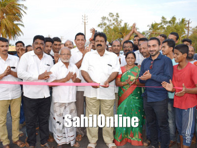 Haneef Abaad new road inaugurated by MLA Mankal vaidya,Bhatkal