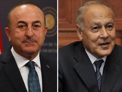 تْرک وزیر خارجہ اور عرب لیگ کے سکریٹری جنرل کے بیچ زبانی جھڑپ