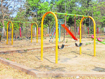 Siddapur's mini garden waits to host its young residents