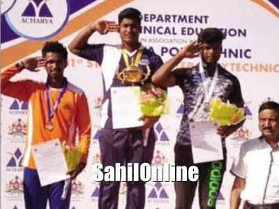 Kumta student gets award in State Inter-Polytechnic sports in Bengaluru