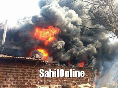 Karwar: Accidental fire at tire remould unit, goods worth lakhs destroyed