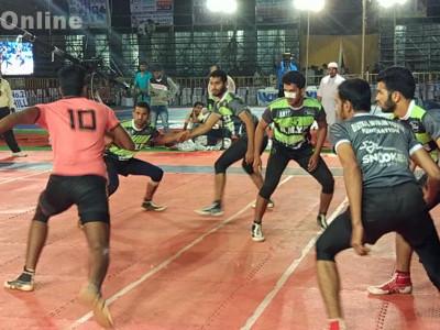 Spectacular start to State Level Kabaddi Tournament organized by Katteveera Sports Center in Bhatkal