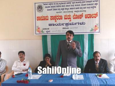 Lok Adalat and Legal Awareness program held in Bhatkal