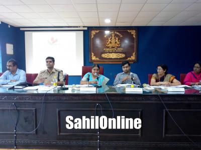 Karnataka State Commission for Women president Nagalaxmi Bai holds review meet at Karwar