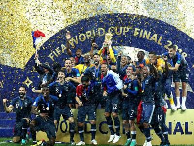 فرانس کے سرپر فیفا ورلڈ کپ کا تاج