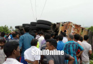 Cyclist dies after getting trapped under a truck in an accident on Honnavar NH 66