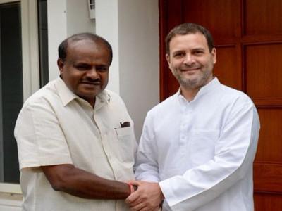ریاستی کانگریس لیڈروں کو نصیحت کرنے راہل گاندھی سے درخواست بہتر انتظامیہ کو یقینی بنانے دونوں پارٹیوں کے درمیان تال میل ضروری: ایچ ڈی کمار سوامی