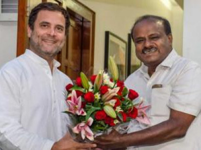 Karnataka's CM Meets Rahul, Conveys Birthday Wish