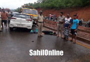 Family from Kerala meets road accident on Kumta NH-66; 1 killed, 3 hurt