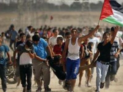 فلسطین : پر امن واپسی مارچ پر اسرائیلی فوج کی فائرنگ ، 206 افراد زخمی