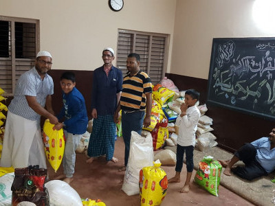 Fitrah committee distributes 950 quintal of rice to poor families in and around Bhatkal