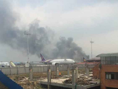 US-Bangla Plane Crashes, Catches Fire At Kathmandu Airport heavy casualties feared