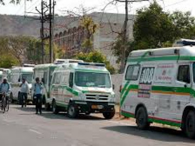 راجستھان میں ایمبولینس ملازمین کی ہڑتال، طبی خدمات متاثر