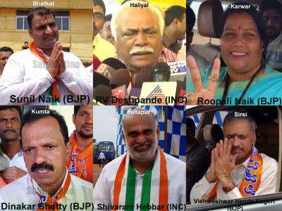 BJP wins 4 out of 6 seats in Uttar Kannada