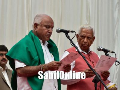 BS Yeddyurappa sworn in as Karnataka chief minister