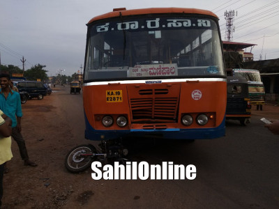 Two injured in bus-bike collision in Bhatkal