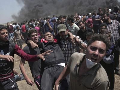 اسرائیلی فوج کی مشرقی غزہ میں مظاہرین پر فائرنگ،60 فلسطینی زخمی
