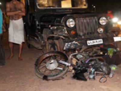 موڈبیدری میں شراب کے نشے میں دھت ڈرائیور کی وجہ سے سیریل ایکسیڈنٹ۔تین زخمی