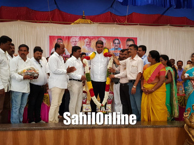 Newly elected Bhatkal BJP MLA Sunil Naik felicitated