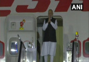 PM Modi arrives in India after his Sochi visit