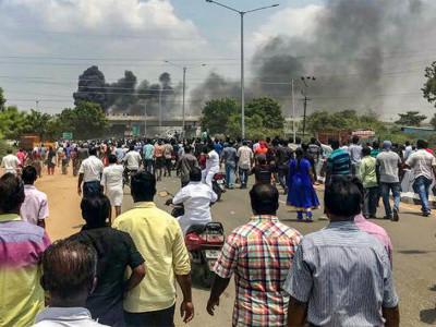 تمل ناڈو: تانبہ پلانٹ کی مخالفت میں پرتشدد احتجاج ، 9 افراد ہلاک