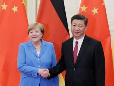 جرمن چانسلر کی چینی صدر سے ملاقات، ایران سے متعلق جوہری ڈیل پر تبادلہ خیال