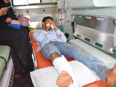 بھٹکل جالی روڈ پر آٹو رکشہ کی بائک سے ٹکر؛ بائک سوار شدید زخمی