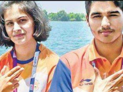 Manu Bhaker, Saurabh Chaudhary set new world record to win mixed event gold at Asian Airgun Championships