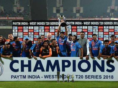 ہندوستان نے ویسٹ انڈیز کا مکمل صفایہ کردیا ٹی۔20سیریز کے تیسرے اور آخری میچ میں 6 وکٹ سے جیت