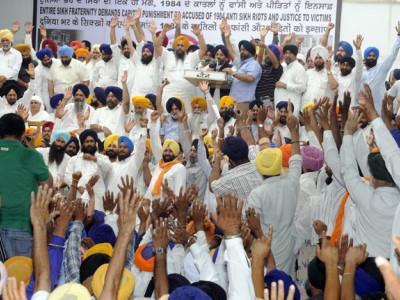 سکھ مخالف فسادات معاملوں کی جانچ رکی، وفد نے صدر سے کی مداخلت کی مانگ