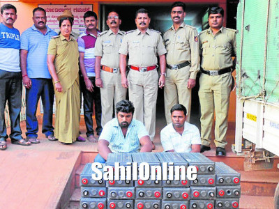 2 held for battery theft in Siddapur