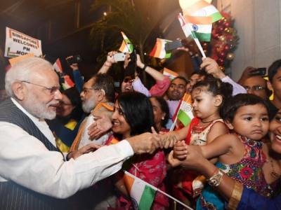 ہندوستان ڈیجیٹل فروغ اورترقی کے دورسے گذررہاہے ، سنگاپورمیں جاری فنٹیک فیسٹول میں وزیراعظم کاخطاب