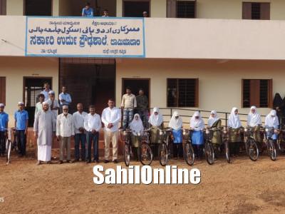 Bhatkal MLA Sunil Naik distributes free bicycles to school students